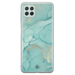Casimoda Samsung Galaxy A22 4G siliconen hoesje - Touch of mint