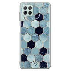 Casimoda Samsung Galaxy A22 4G siliconen hoesje - Blue cubes