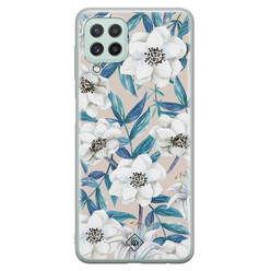 Casimoda Samsung Galaxy A22 4G siliconen hoesje - Touch of flowers