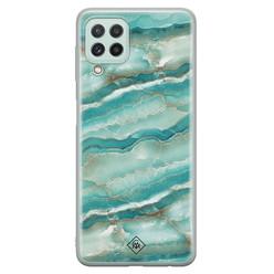 Casimoda Samsung Galaxy A22 4G siliconen hoesje - Mamer azuurblauw
