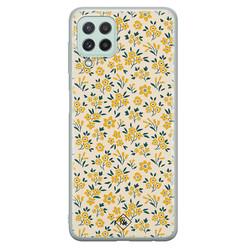 Casimoda Samsung Galaxy A22 4G siliconen hoesje - Yellow garden