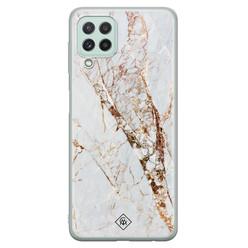 Casimoda Samsung Galaxy A22 4G siliconen hoesje - Marmer goud