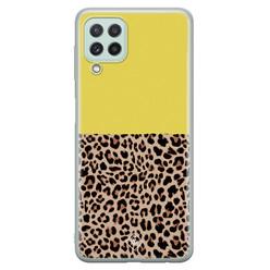 Casimoda Samsung Galaxy A22 4G siliconen hoesje - Luipaard geel