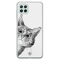 Casimoda Samsung Galaxy A22 4G siliconen hoesje - Peekaboo