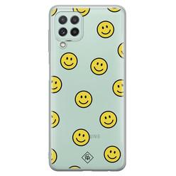 Casimoda Samsung Galaxy A22 4G siliconen hoesje - Smileys