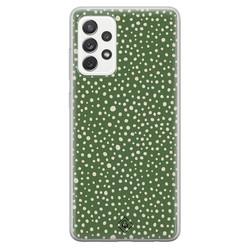 Casimoda Samsung Galaxy A52s siliconen hoesje - Green dots