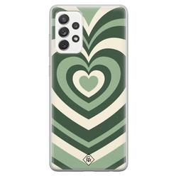 Casimoda Samsung Galaxy A52s siliconen hoesje - Hart swirl groen