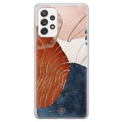 Casimoda Samsung Galaxy A52s siliconen hoesje - Abstract terracotta