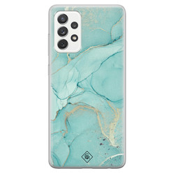 Casimoda Samsung Galaxy A52s siliconen hoesje - Touch of mint