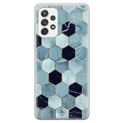 Casimoda Samsung Galaxy A52s siliconen hoesje - Blue cubes