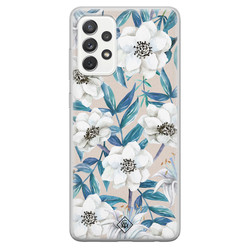 Casimoda Samsung Galaxy A52s siliconen hoesje - Touch of flowers
