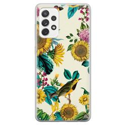 Casimoda Samsung Galaxy A52s siliconen hoesje - Sunflowers