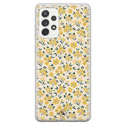 Casimoda Samsung Galaxy A52s siliconen hoesje - Yellow garden