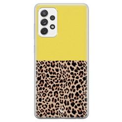 Casimoda Samsung Galaxy A52s siliconen hoesje - Luipaard geel