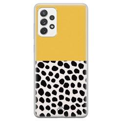 Casimoda Samsung Galaxy A52s siliconen hoesje - Yellow dots
