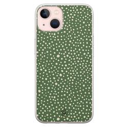 Casimoda iPhone 13 siliconen hoesje - Green dots