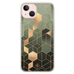 Casimoda iPhone 13 siliconen hoesje - Kubus groen