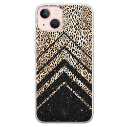 Casimoda iPhone 13 siliconen hoesje - Chevron luipaard