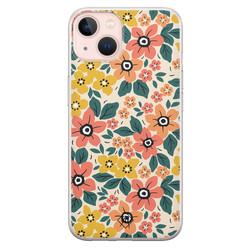 Casimoda iPhone 13 siliconen hoesje - Blossom