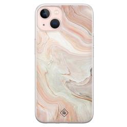 Casimoda iPhone 13 siliconen hoesje - Marmer waves