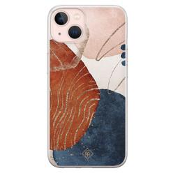 Casimoda iPhone 13 siliconen hoesje - Abstract terracotta