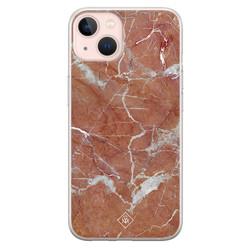 Casimoda iPhone 13 siliconen hoesje - Marble sunkissed