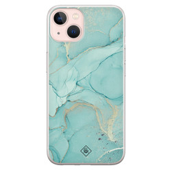 Casimoda iPhone 13 siliconen hoesje - Touch of mint