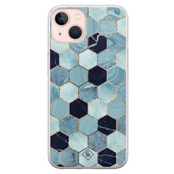 Casimoda iPhone 13 siliconen hoesje - Blue cubes