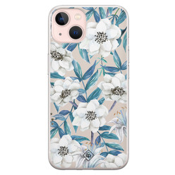 Casimoda iPhone 13 siliconen hoesje - Touch of flowers