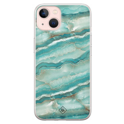 Casimoda iPhone 13 siliconen hoesje - Mamer azuurblauw