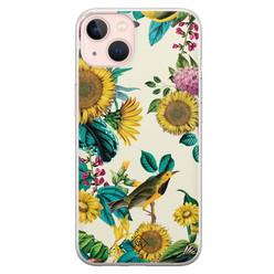 Casimoda iPhone 13 siliconen hoesje - Sunflowers