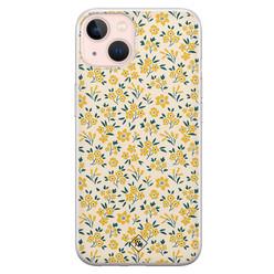 Casimoda iPhone 13 siliconen hoesje - Yellow garden
