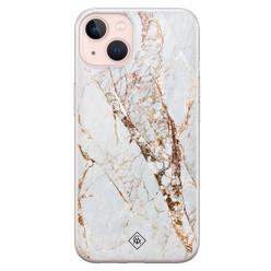 Casimoda iPhone 13 siliconen hoesje - Marmer goud