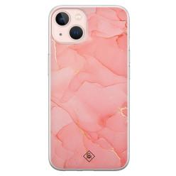Casimoda iPhone 13 siliconen hoesje - Marmer roze