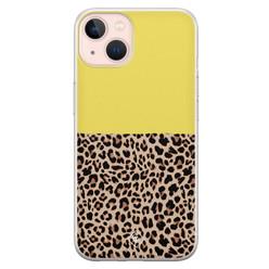 Casimoda iPhone 13 siliconen hoesje - Luipaard geel