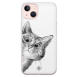 Casimoda iPhone 13 siliconen hoesje - Peekaboo