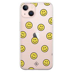 Casimoda iPhone 13 siliconen hoesje - Smileys