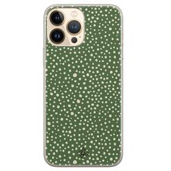 Casimoda iPhone 13 Pro Max siliconen hoesje - Green dots
