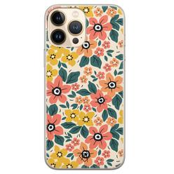 Casimoda iPhone 13 Pro Max siliconen hoesje - Blossom