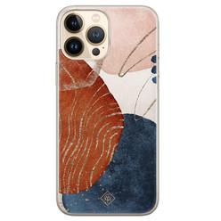 Casimoda iPhone 13 Pro Max siliconen hoesje - Abstract terracotta