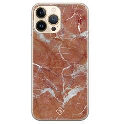 Casimoda iPhone 13 Pro Max siliconen hoesje - Marble sunkissed