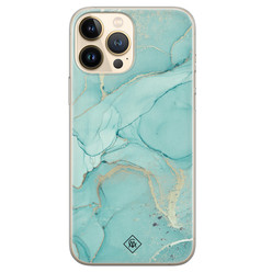 Casimoda iPhone 13 Pro Max siliconen hoesje - Touch of mint