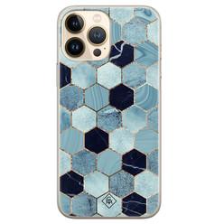 Casimoda iPhone 13 Pro Max siliconen hoesje - Blue cubes