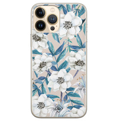 Casimoda iPhone 13 Pro Max siliconen hoesje - Touch of flowers