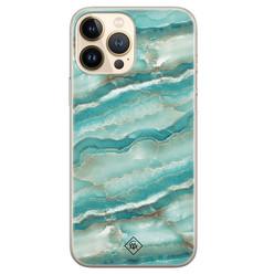 Casimoda iPhone 13 Pro Max siliconen hoesje - Mamer azuurblauw