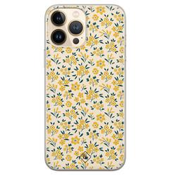 Casimoda iPhone 13 Pro Max siliconen hoesje - Yellow garden