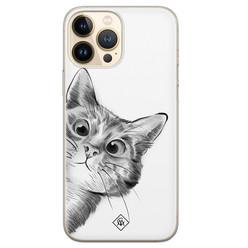 Casimoda iPhone 13 Pro Max siliconen hoesje - Peekaboo