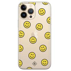 Casimoda iPhone 13 Pro Max siliconen hoesje - Smileys