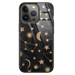 Casimoda iPhone 13 Pro glazen hardcase - Counting the stars