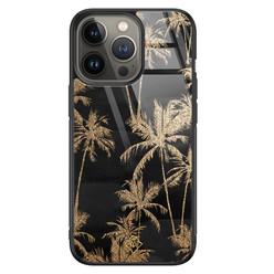 Casimoda iPhone 13 Pro glazen hardcase - Palmbomen